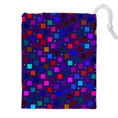 Squares Square Background Abstract Drawstring Pouches (xxl) by Nexatart