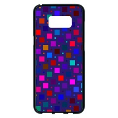 Squares Square Background Abstract Samsung Galaxy S8 Plus Black Seamless Case