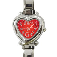 Background Valentine S Day Love Heart Italian Charm Watch