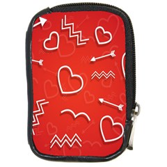 Background Valentine S Day Love Compact Camera Cases by Nexatart