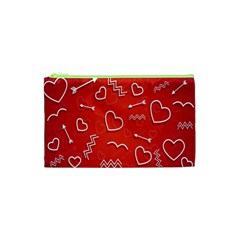 Background Valentine S Day Love Cosmetic Bag (xs) by Nexatart