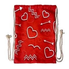 Background Valentine S Day Love Drawstring Bag (large) by Nexatart