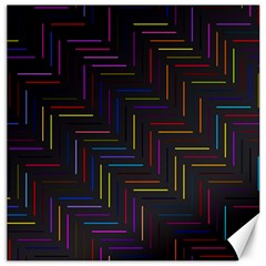 Lines Line Background Canvas 12  X 12   by Nexatart