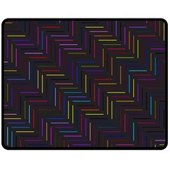 Lines Line Background Double Sided Fleece Blanket (medium)