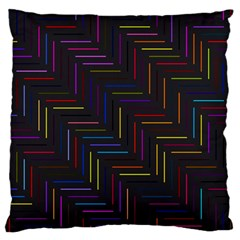 Lines Line Background Large Flano Cushion Case (one Side) by Nexatart