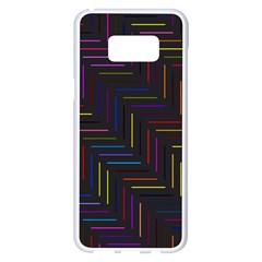 Lines Line Background Samsung Galaxy S8 Plus White Seamless Case by Nexatart
