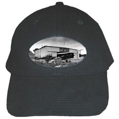 Omaha Airfield Airplain Hangar Black Cap