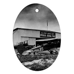 Omaha Airfield Airplain Hangar Oval Ornament (two Sides)
