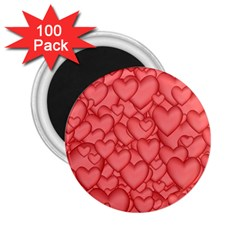 Background Hearts Love 2 25  Magnets (100 Pack)