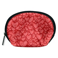 Background Hearts Love Accessory Pouches (medium)