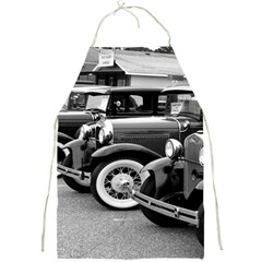 Vehicle Car Transportation Vintage Full Print Aprons by Nexatart