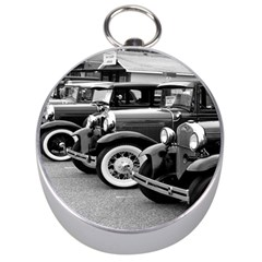 Vehicle Car Transportation Vintage Silver Compasses by Nexatart