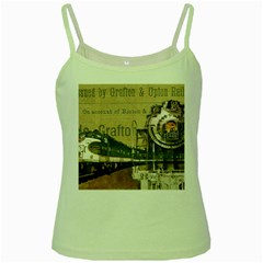 Train Vintage Tracks Travel Old Green Spaghetti Tank