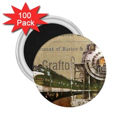 Train Vintage Tracks Travel Old 2 25  Magnets (100 Pack)  by Nexatart