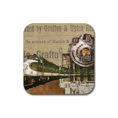 Train Vintage Tracks Travel Old Rubber Coaster (square)  by Nexatart
