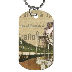 Train Vintage Tracks Travel Old Dog Tag (one Side) by Nexatart