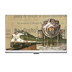 Train Vintage Tracks Travel Old Business Card Holders by Nexatart