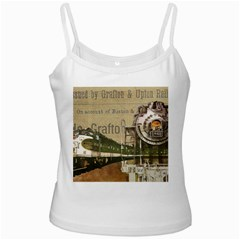 Train Vintage Tracks Travel Old Ladies Camisoles