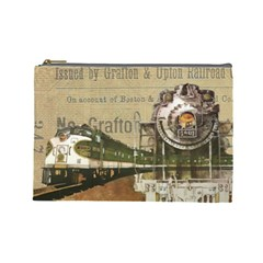 Train Vintage Tracks Travel Old Cosmetic Bag (large)
