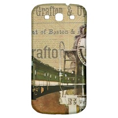 Train Vintage Tracks Travel Old Samsung Galaxy S3 S Iii Classic Hardshell Back Case
