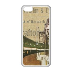 Train Vintage Tracks Travel Old Apple Iphone 5c Seamless Case (white) by Nexatart