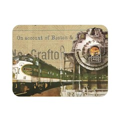 Train Vintage Tracks Travel Old Double Sided Flano Blanket (mini)