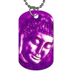 Purple Buddha Art Portrait Dog Tag (one Side) by yoursparklingshop
