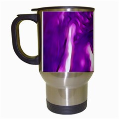 Purple Buddha Art Portrait Travel Mugs (white) by yoursparklingshop