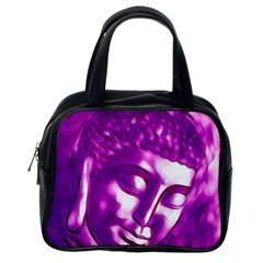 Purple Buddha Art Portrait Classic Handbags (one Side) by yoursparklingshop