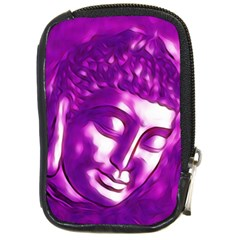 Purple Buddha Art Portrait Compact Camera Cases by yoursparklingshop