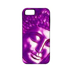 Purple Buddha Art Portrait Apple Iphone 5 Classic Hardshell Case (pc+silicone) by yoursparklingshop
