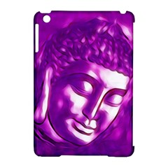 Purple Buddha Art Portrait Apple Ipad Mini Hardshell Case (compatible With Smart Cover) by yoursparklingshop