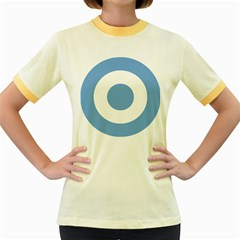 Roundel Of Argentine Air Force Women s Fitted Ringer T Shirts