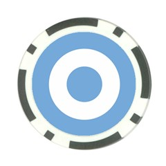 Roundel Of Argentine Air Force Poker Chip Card Guard by abbeyz71