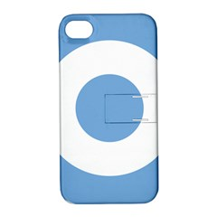 Roundel Of Argentine Air Force Apple Iphone 4/4s Hardshell Case With Stand by abbeyz71