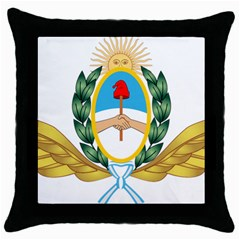 The Argentine Air Force Emblem  Throw Pillow Case (black) by abbeyz71
