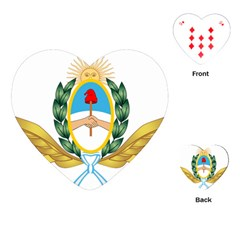 The Argentine Air Force Emblem  Playing Cards (heart)  by abbeyz71