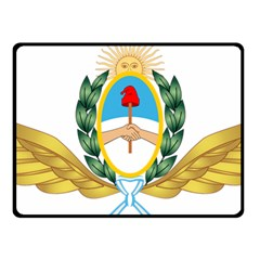 The Argentine Air Force Emblem  Fleece Blanket (small) by abbeyz71