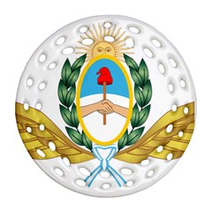 The Argentine Air Force Emblem  Ornament (round Filigree) by abbeyz71