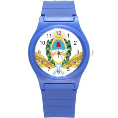 The Argentine Air Force Emblem  Round Plastic Sport Watch (s) by abbeyz71