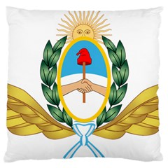 The Argentine Air Force Emblem  Large Cushion Case (two Sides) by abbeyz71