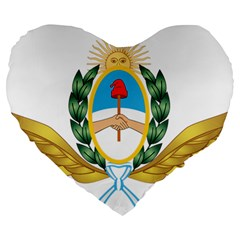 The Argentine Air Force Emblem  Large 19  Premium Flano Heart Shape Cushions by abbeyz71