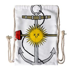 Symbol Of Argentine Navy  Drawstring Bag (large) by abbeyz71