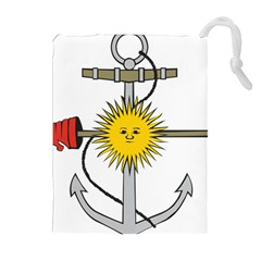Symbol Of Argentine Navy  Drawstring Pouches (extra Large) by abbeyz71
