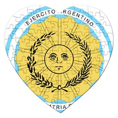 Seal Of The Argentine Army Jigsaw Puzzle (heart) by abbeyz71