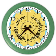 Seal Of The Argentine Army Color Wall Clocks by abbeyz71