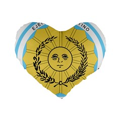 Seal Of The Argentine Army Standard 16  Premium Flano Heart Shape Cushions by abbeyz71