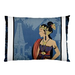 Java Indonesia Girl Headpiece Pillow Case (two Sides)