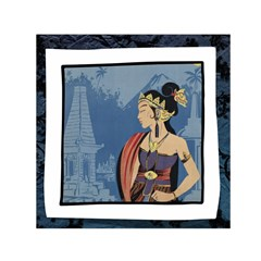 Java Indonesia Girl Headpiece Small Satin Scarf (square) by Nexatart