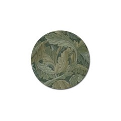 Vintage Background Green Leaves Golf Ball Marker (4 Pack)